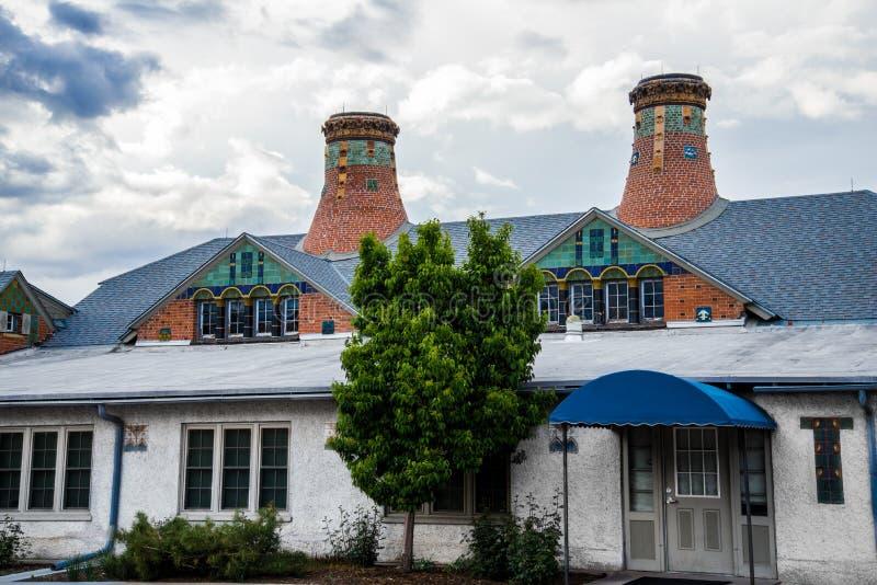 Krukmakerifabriksgränsmärke Colorado Springs royaltyfria foton