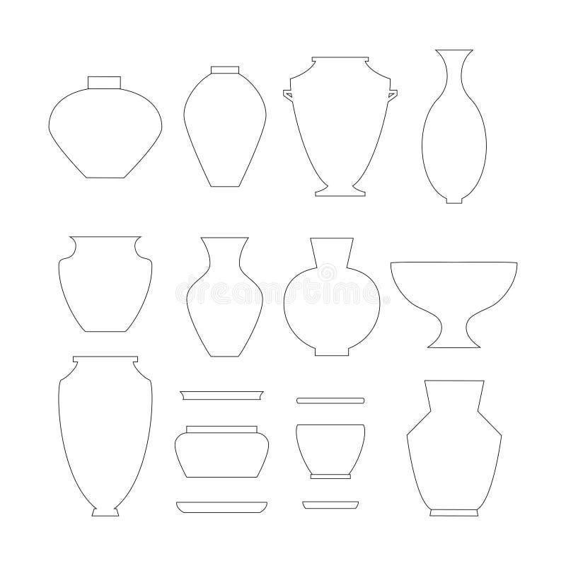 Krukmakerisymbolsuppsättning royaltyfri illustrationer