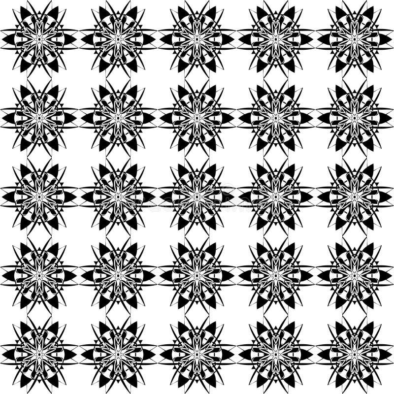 Krullande linjer för abstrakt modell för vektor sömlös stock illustrationer