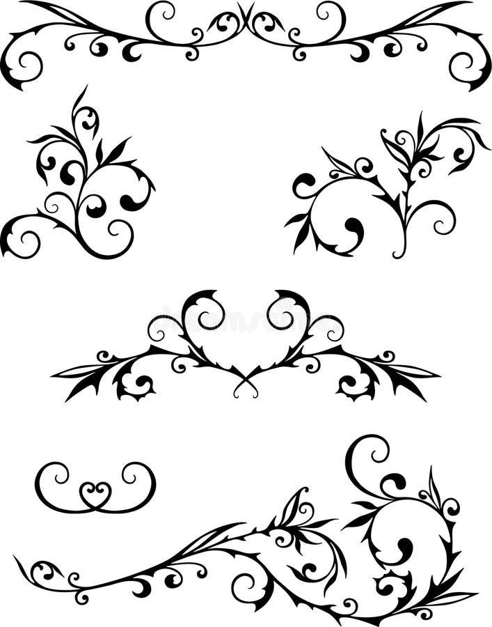 Krullen stock illustratie