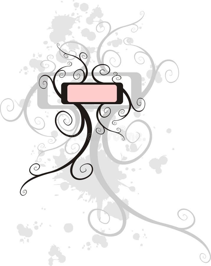 Krullend etiket vector illustratie