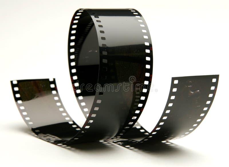 Krullende film royalty-vrije stock afbeeldingen