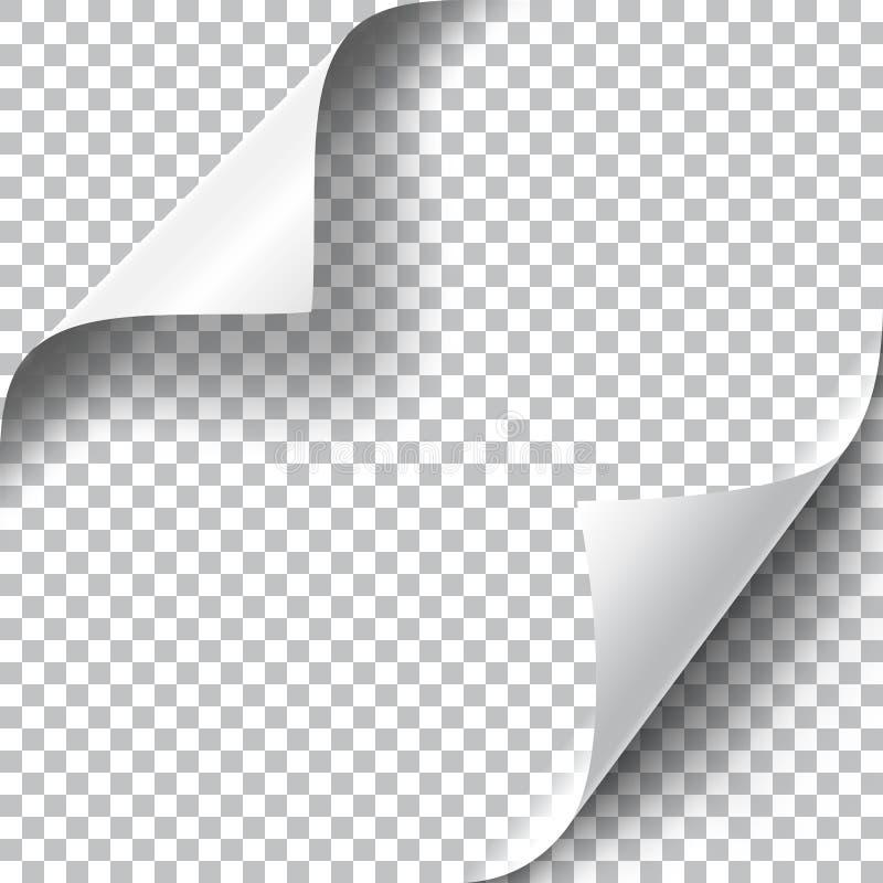 Krullende geplaatste Paginahoeken stock illustratie
