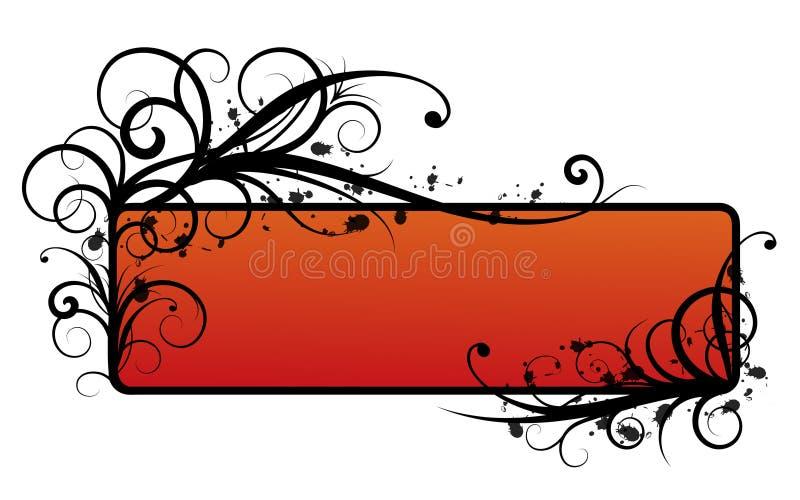 Krullende grens vector illustratie