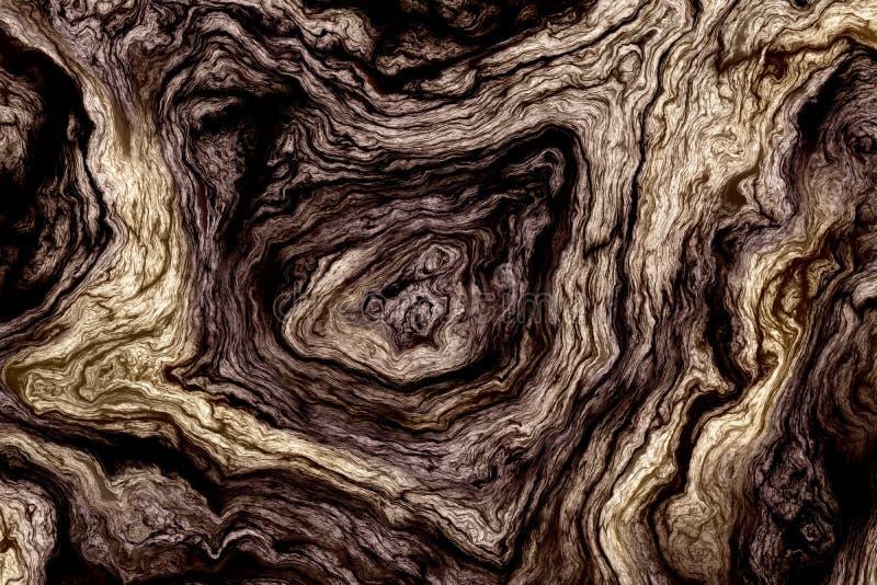 Krullende houten textuur stock illustratie