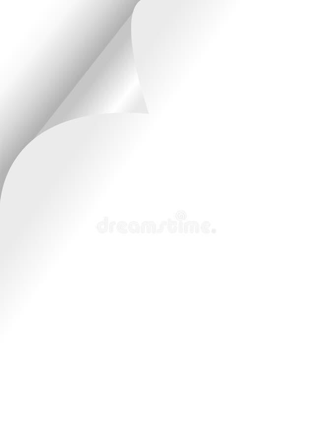 krullningssida stock illustrationer