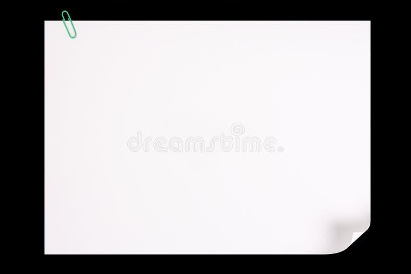 krullningssidapapper arkivbild