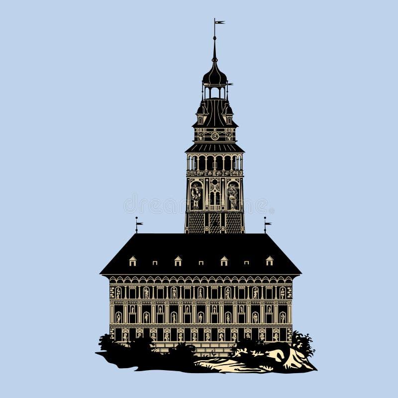 Krumlov-Schloss lizenzfreies stockbild