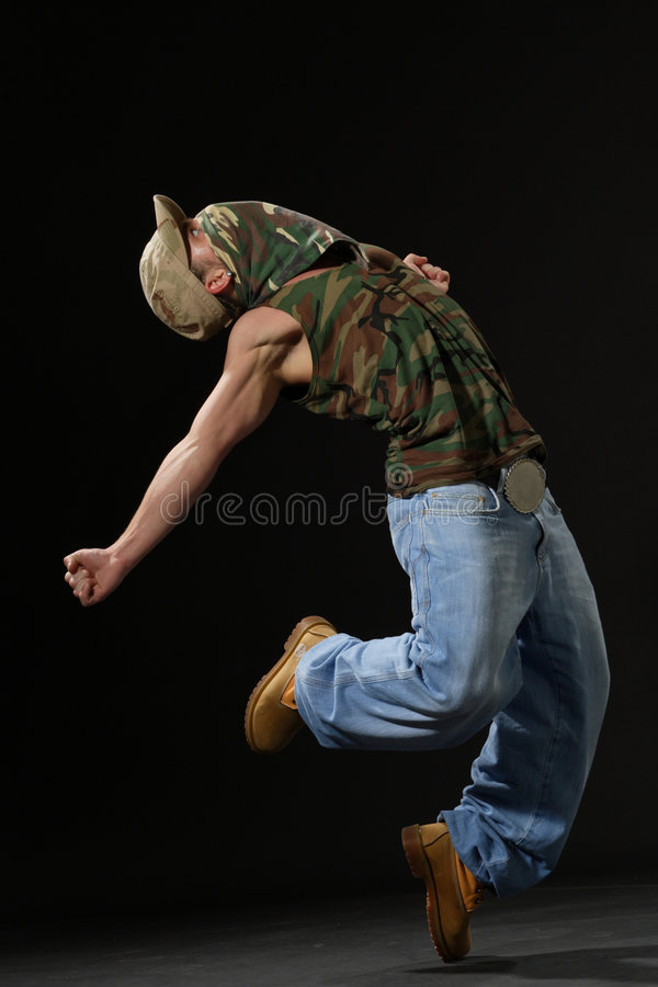 The krump dancer royalty free stock photography