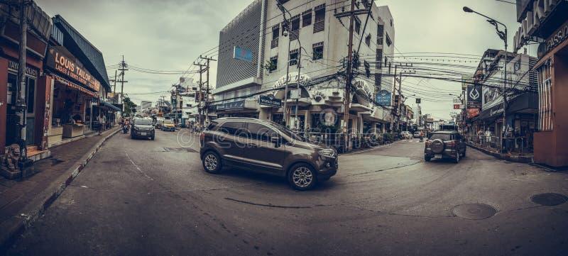 Krupiaste uliczne sceny od Pattaya Tajlandia zdjęcia stock