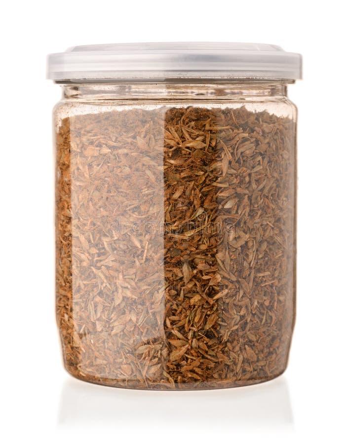 Krus av blandade kryddor arkivbild