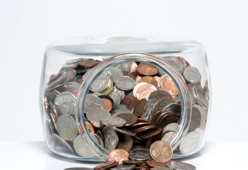Krus av USA-mynt royaltyfria foton