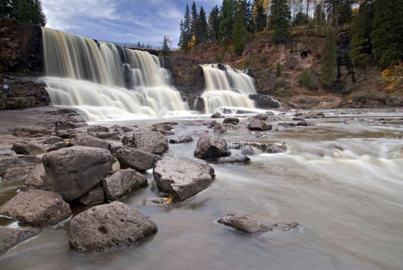 Krusbäret faller, den norr kusten, Lake Superior, Minnesota, USA royaltyfri bild