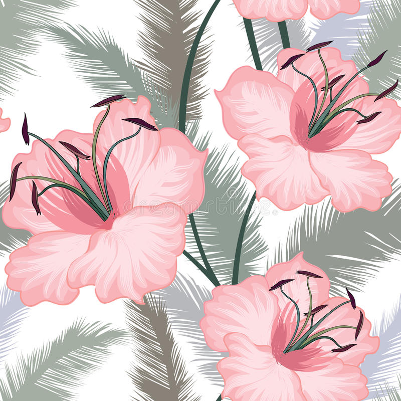 Krusidull belagd med tegel blom- geometrisk sömlös modell Abstrakt begrepp orien vektor illustrationer