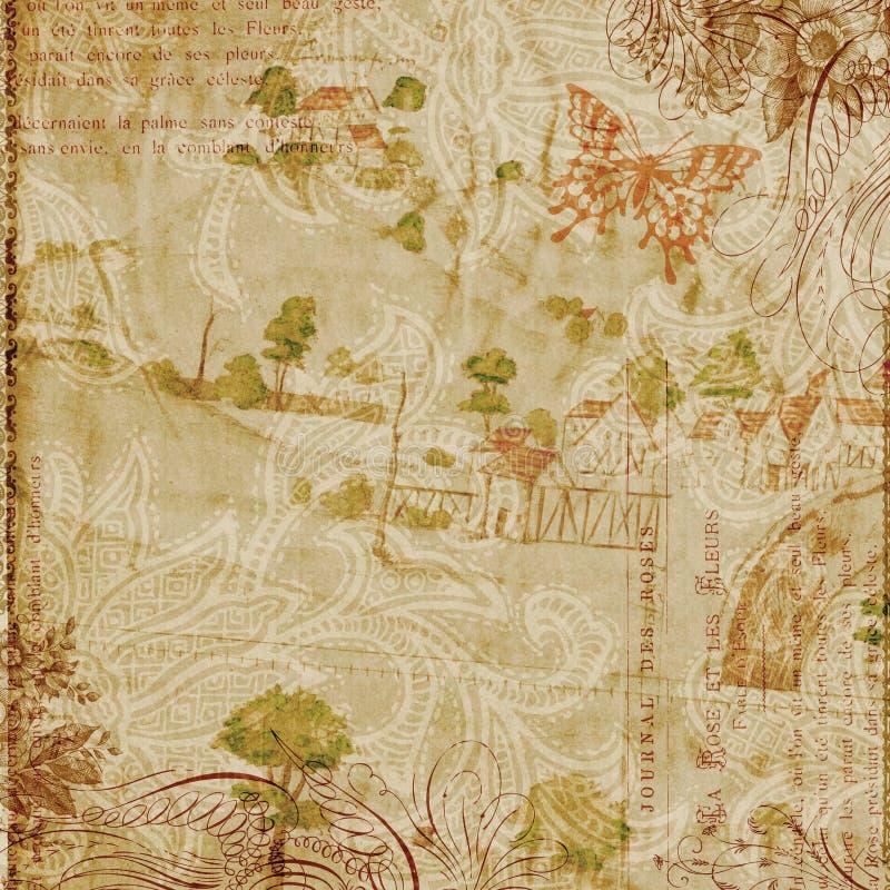 krusidullar för bakgrundsdesignflorals stock illustrationer