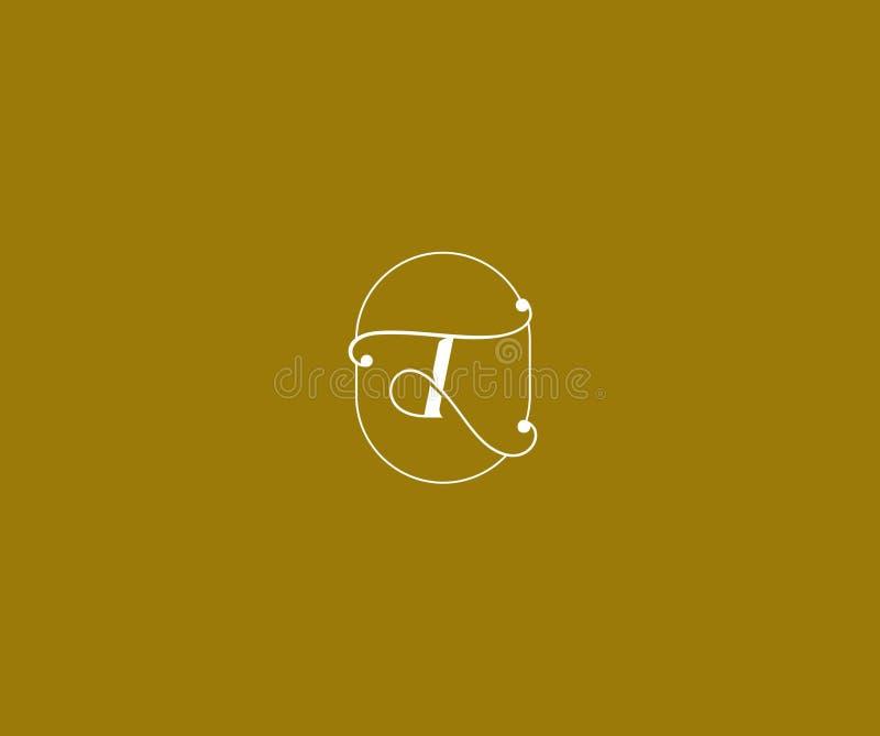 Krusidullar för skönhet för initial b-bokstav smyckar lyxiga monogramlogo vektor illustrationer
