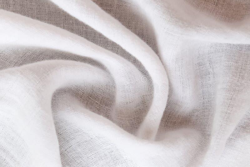 Krusig vit kalikå av yttersidatyg arkivfoton