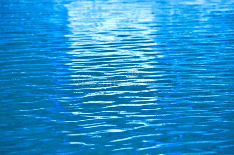 Krusning för blått vatten. arkivbilder