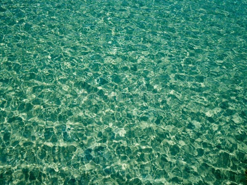 Krusning för yttersida för vatten för hav för gräsplan för unikt perspektiv crystal med solreflexion vatten för vektor för modell arkivbilder