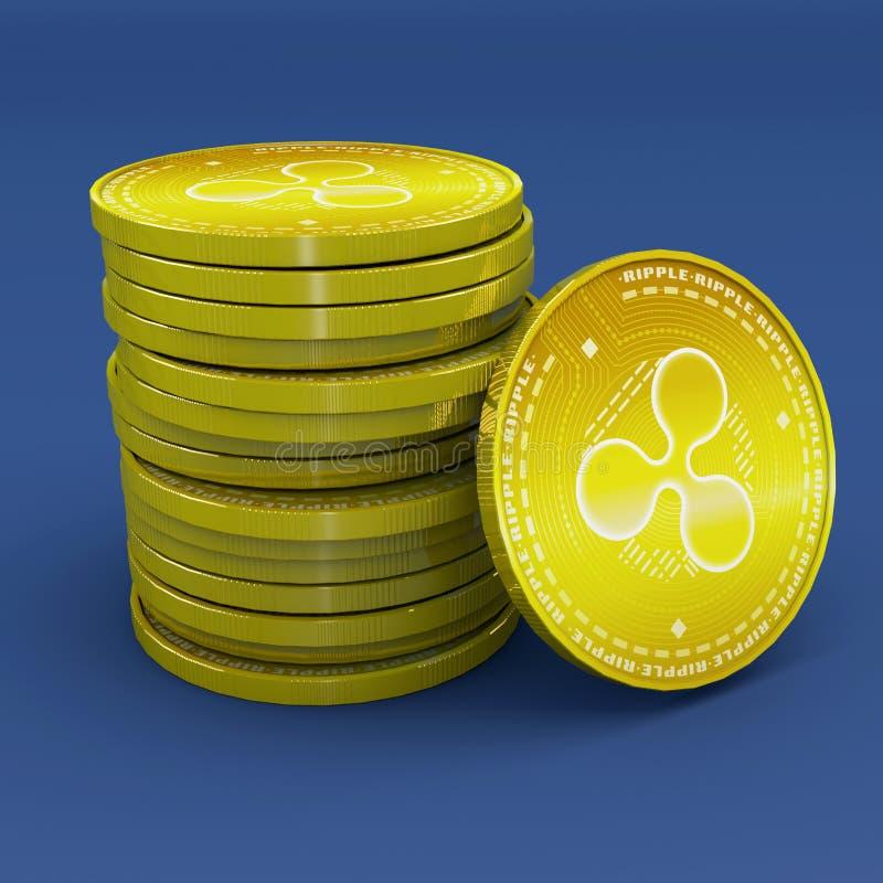 Krusning xrp, cryptocurrency, e-pengar, faktisk valuta, övergångar stock illustrationer