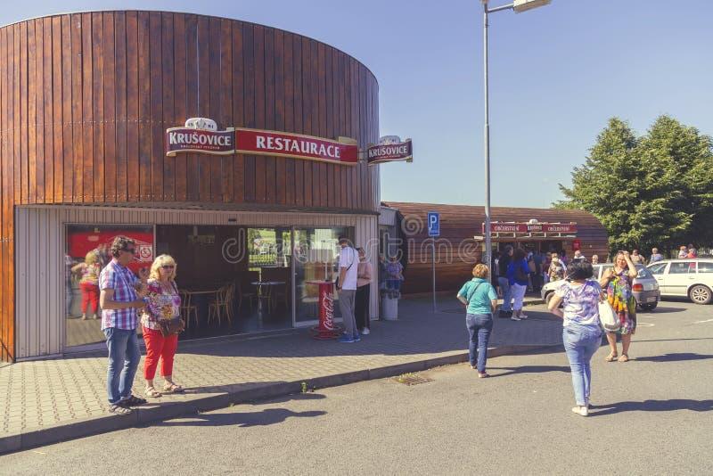 Krusovice piwny pamiątkarski sklep zdjęcie royalty free