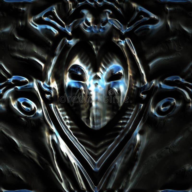 Kruszcowa maska obraz stock