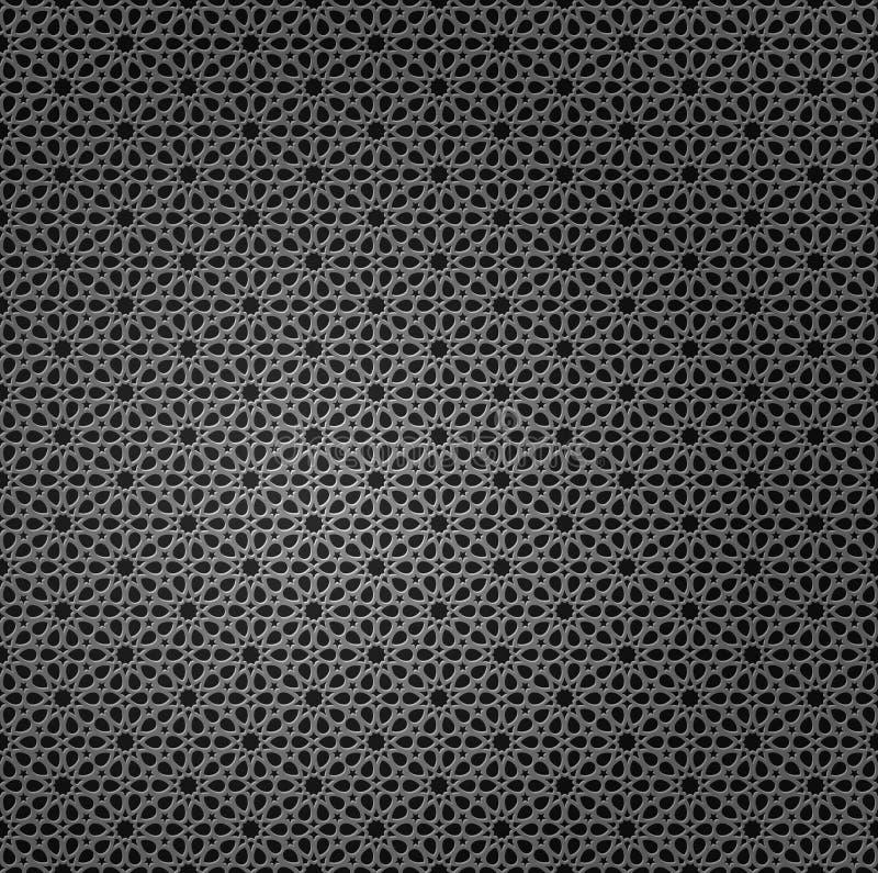 Kruszcowa siatka z arabskimi elementami ilustracja wektor