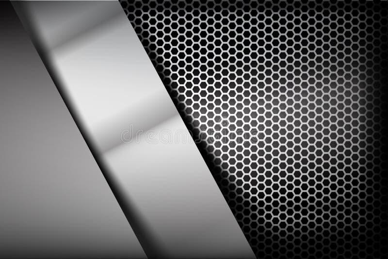 Kruszcowa stali i honeycomb elementu tła tekstura 007 ilustracja wektor