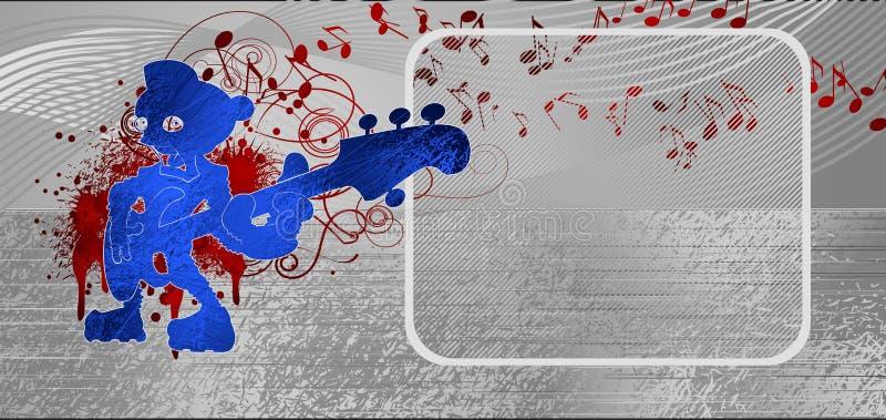 kruszcowa tło muzyka ilustracji