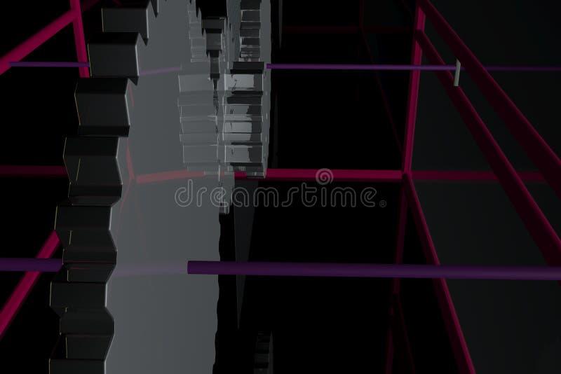Kruszcowego projekta abstrakcjonistyczny mechanizm 3d obraz royalty free