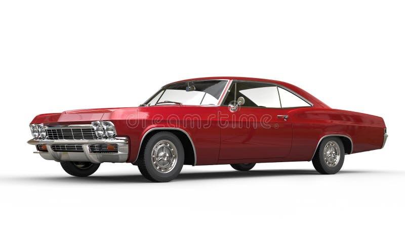 Kruszcowy czerwony mięśnia samochód - studio strzał zdjęcia stock