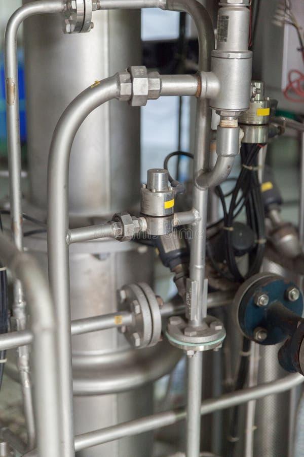 Kruszcowy fajczany system tekstylna fabryka fotografia stock