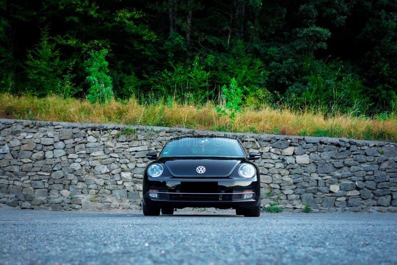 Kruszcowy farby coupe samochód - sportowy samochód, historia samochód, niemiecka terenówka obraz royalty free