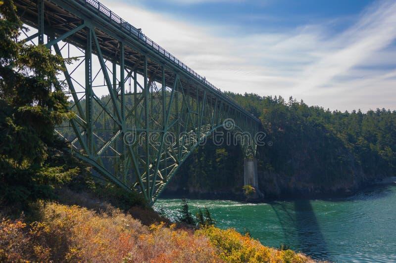 Kruszcowy most przy łudzenie przepustką fotografia stock