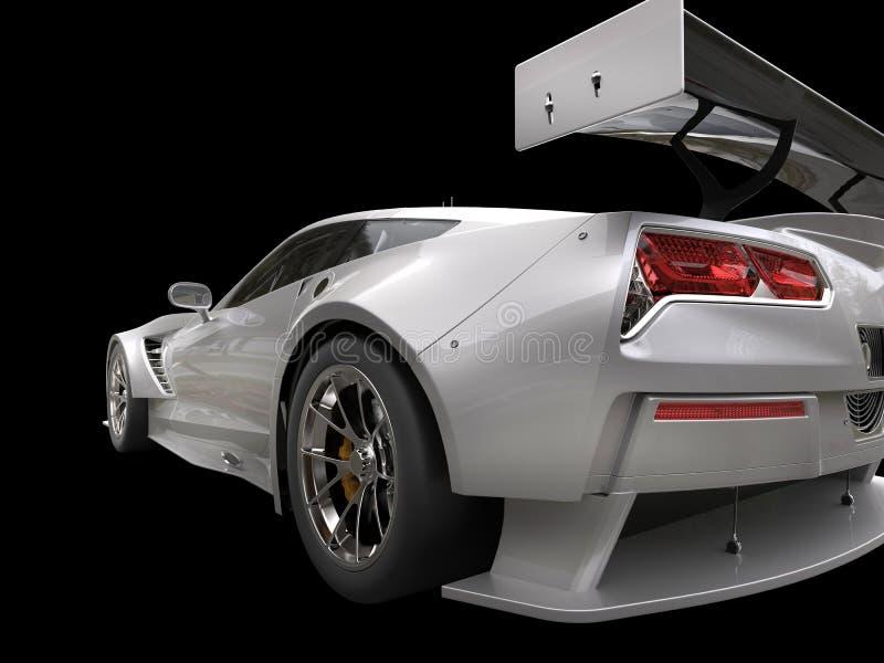 Kruszcowy szary wytrzymałość sportów samochód - taillight strzał royalty ilustracja