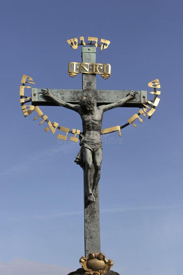 Kruzifix zum Himmel stockbilder