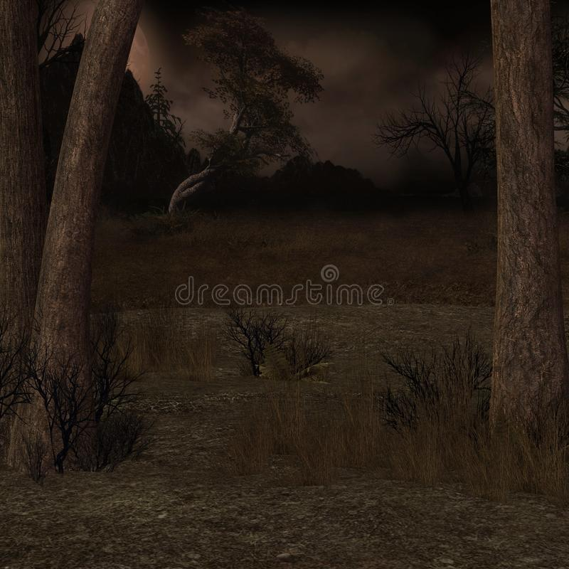KRW Creepy Forest Background royalty free stock image