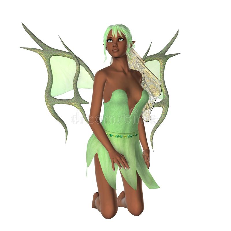 Download KRW Green Faerie stock illustration. Image of nymph, pretty - 31295634