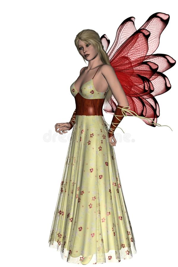 Download KRW Red Floral Faerie stock illustration. Image of ribbons - 31295234