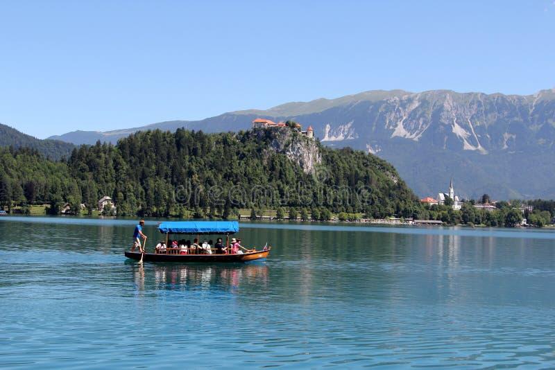 krwawiący grodowy jezioro zdjęcia stock