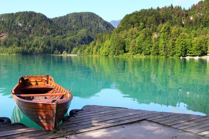 krwawiący jeziorny Slovenia zdjęcia royalty free