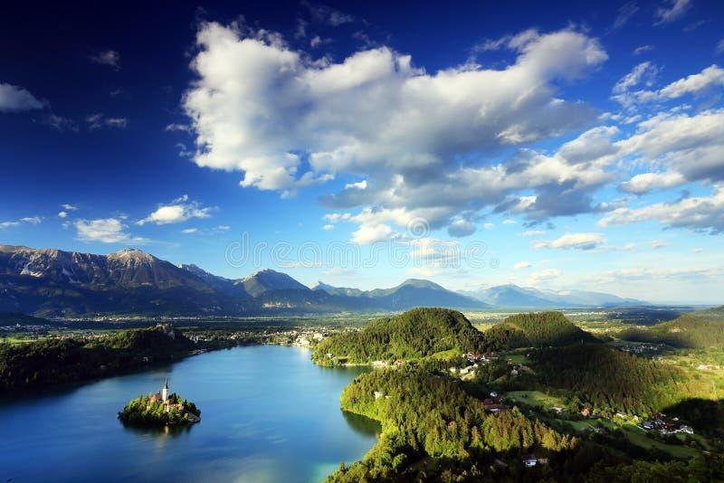 Krwawiący jezioro, Slovenia, Europa obrazy royalty free