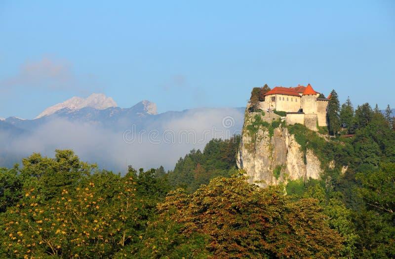 Krwawiący kasztel, Alps, Slovenia. zdjęcie stock