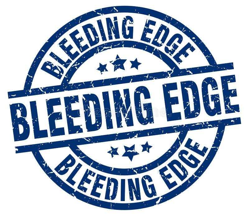 Krwawiący krawędź znaczek ilustracji