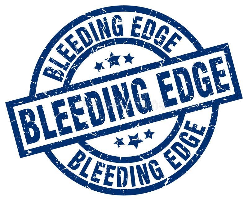 Krwawiący krawędź znaczek ilustracja wektor