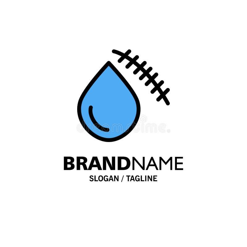 Krwawiący, krew, cięcie, uraz, Rani Biznesowego logo szablon p?aski kolor ilustracji