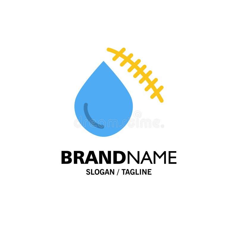 Krwawiący, krew, cięcie, uraz, Rani Biznesowego logo szablon p?aski kolor ilustracja wektor