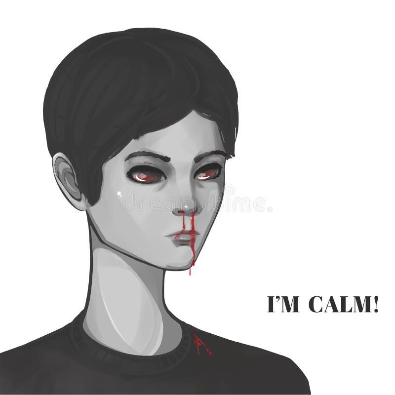 Krwawiący nos ilustracja wektor