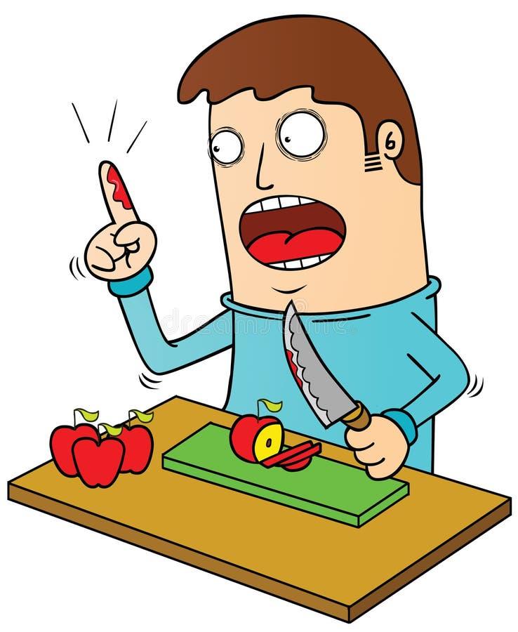 Krwawiący palec ilustracja wektor