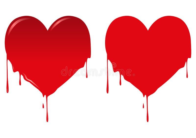 Krwawiący serce royalty ilustracja
